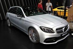 Den nya Mercedes AMG C 63 S Arkivbilder