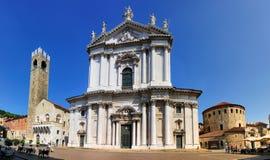 Piazza del Duomo, Brescia, Italien fotografering för bildbyråer