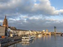 Den nya platsen av ECB i Frankfurt, Tyskland Royaltyfri Foto