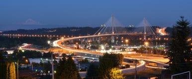 Den nya portMann bron Fotografering för Bildbyråer