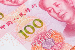 Den nya räkningen för 100 RMB Royaltyfria Bilder
