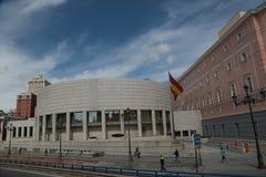 Den nya senatbyggnaden i madrid Royaltyfri Fotografi