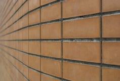 den nya släta tegelstenen Arkivbild