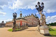 Den nya slotten i Sanssouci parkerar Royaltyfri Bild
