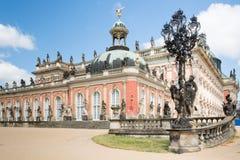 Den nya slotten i Sanssouci parkerar, Potsdam, Tyskland Royaltyfri Foto