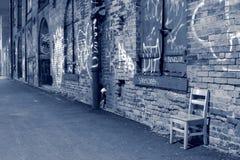 den nya staden plattforer still tid york arkivbild