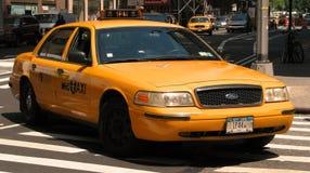 den nya staden taxar york Royaltyfri Foto