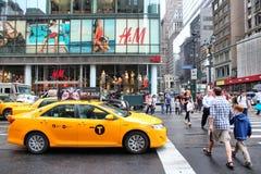 den nya staden taxar york Arkivbild