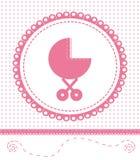 Den nyfödda vykortet behandla som ett barn. Vektor EPS 10. Arkivbilder