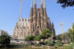 SagradaFamilia domkyrka Barcelona Spanien Arkivbilder