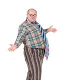 Den Obese manen med ett skandalöst danar avkänning Royaltyfria Foton