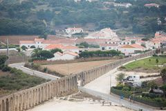 Den Obidos akvedukten Royaltyfria Foton
