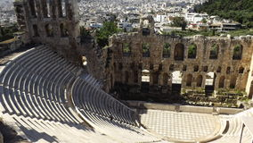 Den Odeon teatern av den Herodes atticusen, akropol, Aten Royaltyfria Foton
