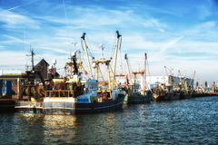 Den Oever harbor Royalty Free Stock Images