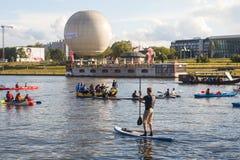 Den offentliga händelsen kallade 4th vatten kritisk mass i Krakow Arkivfoton