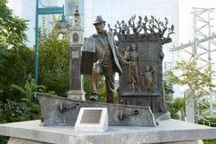 Den offentliga statyn för utvandrare - Halifax - Nova Scotia Fotografering för Bildbyråer