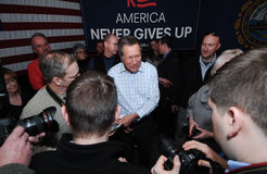 Den Ohio regulatorn John Kasich talar i Newmarket, NH, Januari 25, 2016 Royaltyfri Bild