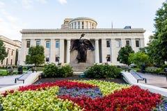 Den Ohio statehousen i Columbus, Ohio arkivbilder