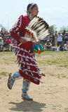 Den oidentifierade kvinnliga indiandansaren på NYC-powen överraskar i Brooklyn Royaltyfria Foton