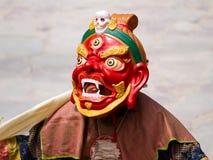 Den oidentifierade munken utför en klosterbroder M Royaltyfria Foton