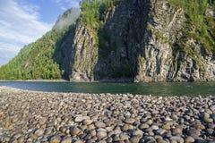 Den Oka Sayanskaya floden Siberia Ryssland Arkivbilder