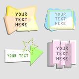 Den olika abstrakta textasken stock illustrationer