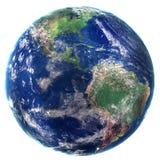 den olika jordklotillustrationvektorn visar världen