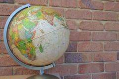 den olika jordklotillustrationvektorn visar världen Royaltyfria Foton
