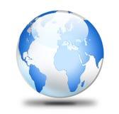 den olika jordklotillustrationvektorn visar världen Royaltyfri Bild