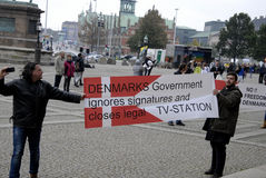 DEN OLIKA PROTESTEN SAMLAR Royaltyfri Fotografi
