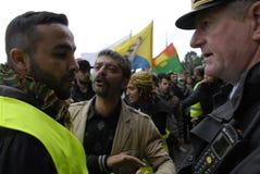 DEN OLIKA PROTESTEN SAMLAR Royaltyfria Foton