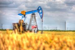Den olje- pumpen Arkivbild