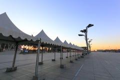 Den olympic fyrkanten av beijing parkerar soluppgång, Adobe rgb Royaltyfria Bilder