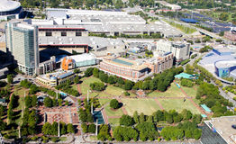Den olympiska hundraårsjubileet parkerar, i stadens centrum Atlanta, GUMMIN fotografering för bildbyråer