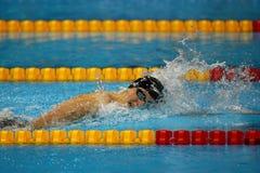 Den olympiska mästaren Katie Ledecky av Förenta staterna konkurrerar på kvinnornas den 800m fristilen av Rio de Janeiro 2016 OS Royaltyfri Fotografi