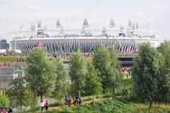 Den olympiska stadionen, olympisk Park, London Arkivfoto
