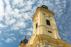 Den omdanade kyrkan för protestant utmärkt Arkivbilder