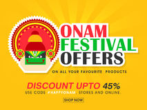 Den Onam festivalen erbjuder affischen, banret eller reklambladet Royaltyfri Fotografi