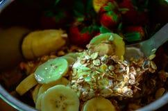 Den organiska maten för matOrganics är ett välkänt och populärt val som speciellt utomlands äter middag i det vård- fältet, Royaltyfria Bilder