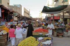 Den orientaliska marknaden av Aswan i Egypten Royaltyfri Bild