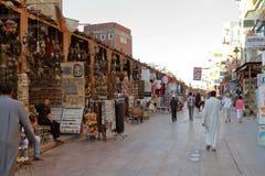 Den orientaliska marknaden av Aswan i Egypten Arkivbilder