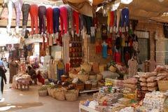 Den orientaliska marknaden av Aswan i Egypten Fotografering för Bildbyråer