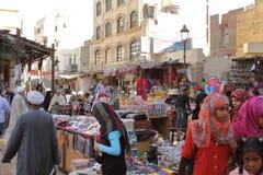 Den orientaliska marknaden av Aswan i Egypten Arkivbild