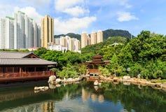 Den orientaliska paviljongen av absolut perfektion i Nan Lian Garden, Fotografering för Bildbyråer