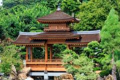 Den orientaliska paviljongen av absolut perfektion i Nan Lian Garden, Arkivbilder