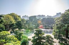 Den orientaliska paviljongen av absolut perfektion i Nan Lian Garden, Arkivbild