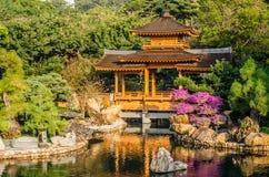 Den orientaliska paviljongen av absolut perfektion i Nan Lian Garden, Royaltyfri Bild