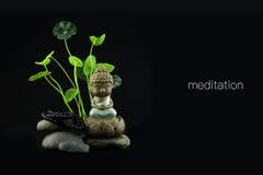 Den orientaliska visheten av Buddha Fotografering för Bildbyråer