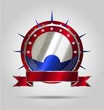 Lyxigt marknadsföra etiketten/emblemen/klistermärken Arkivbilder