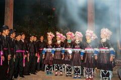 Den original- Dong Chorus, Guizhou, porslin arkivfoto